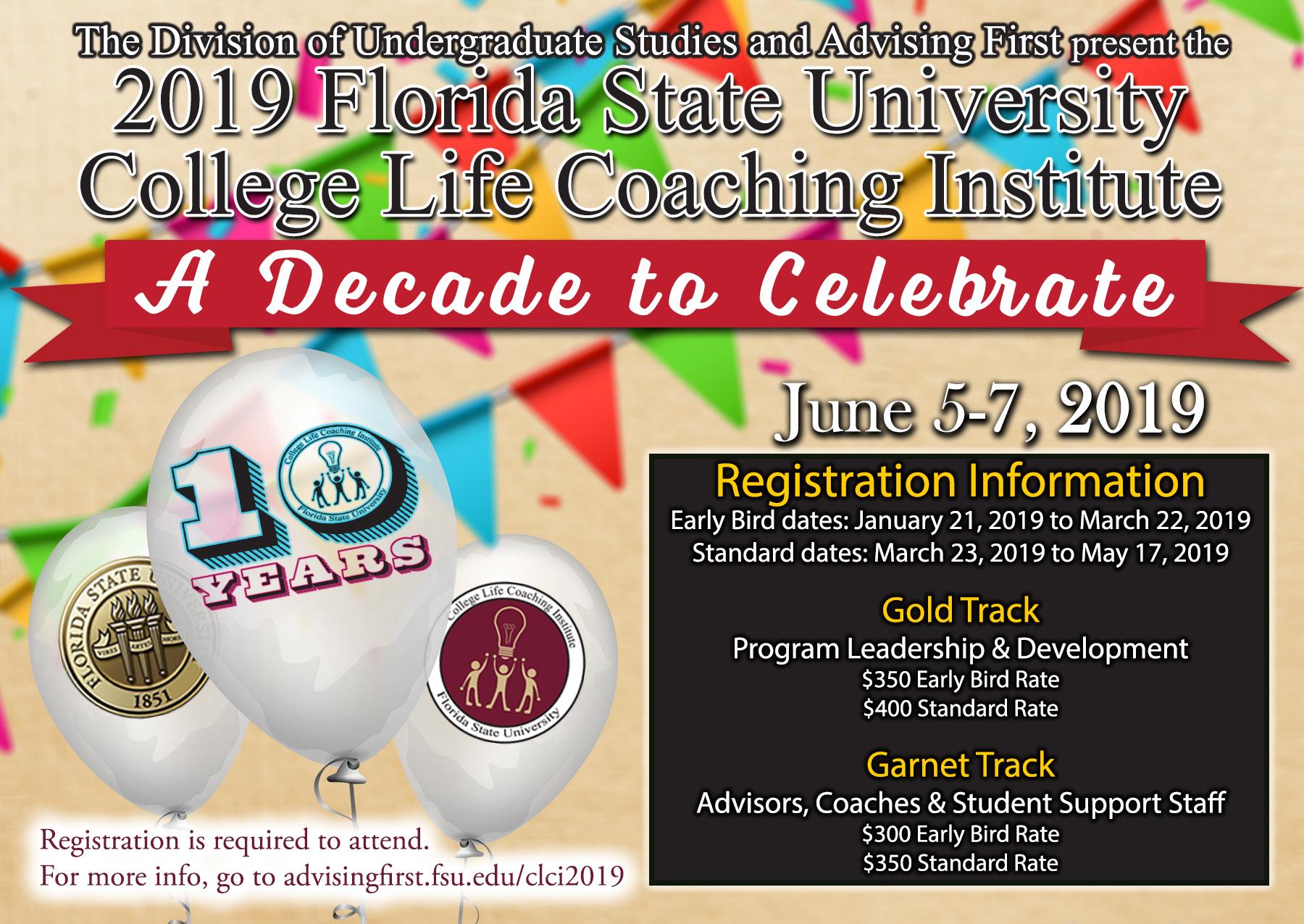 Florida State University College Life Coaching Institute 2019